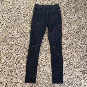 Forever 21 high waisted black skinny jean